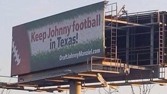 Billboard Pleads With Texans To Take Johnny Manziel With First …